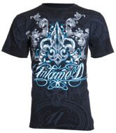 Футболка мужская Untamed FLEUR DE LIS WINGS black