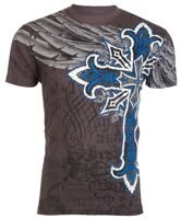 Футболка мужская Affliction COURAGEOUS Couture blue