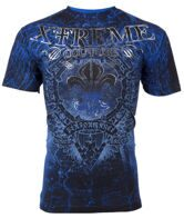 Футболка мужская Xtreme Couture Affliction HONORABLE X1159 cobalt